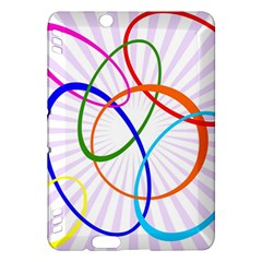 Abstract Background With Interlocking Oval Shapes Kindle Fire Hdx Hardshell Case