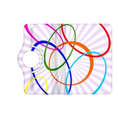 Abstract Background With Interlocking Oval Shapes Kindle Fire HD (2013) Flip 360 Case