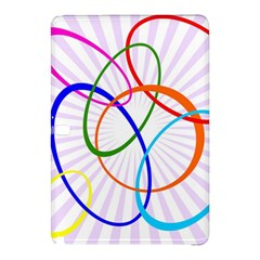 Abstract Background With Interlocking Oval Shapes Samsung Galaxy Tab Pro 10 1 Hardshell Case