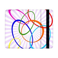 Abstract Background With Interlocking Oval Shapes Samsung Galaxy Tab Pro 8 4  Flip Case