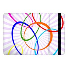 Abstract Background With Interlocking Oval Shapes Samsung Galaxy Tab Pro 10.1  Flip Case