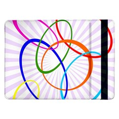 Abstract Background With Interlocking Oval Shapes Samsung Galaxy Tab Pro 12 2  Flip Case