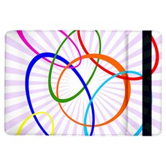 Abstract Background With Interlocking Oval Shapes Ipad Air Flip