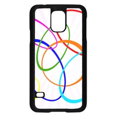 Abstract Background With Interlocking Oval Shapes Samsung Galaxy S5 Case (Black)