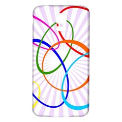 Abstract Background With Interlocking Oval Shapes Samsung Galaxy S5 Back Case (white)