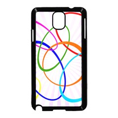 Abstract Background With Interlocking Oval Shapes Samsung Galaxy Note 3 Neo Hardshell Case (Black)