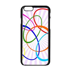 Abstract Background With Interlocking Oval Shapes Apple Iphone 6/6s Black Enamel Case