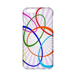 Abstract Background With Interlocking Oval Shapes Apple Iphone 6/6s Hardshell Case