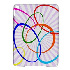 Abstract Background With Interlocking Oval Shapes Ipad Air 2 Hardshell Cases