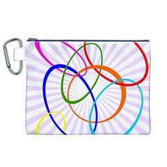 Abstract Background With Interlocking Oval Shapes Canvas Cosmetic Bag (XL)