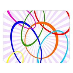 Abstract Background With Interlocking Oval Shapes Double Sided Flano Blanket (Large)