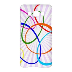 Abstract Background With Interlocking Oval Shapes Samsung Galaxy A5 Hardshell Case