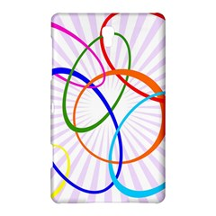 Abstract Background With Interlocking Oval Shapes Samsung Galaxy Tab S (8.4 ) Hardshell Case