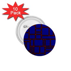 Line Plaid Red Blue 1.75  Buttons (10 pack)