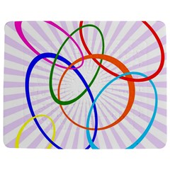 Abstract Background With Interlocking Oval Shapes Jigsaw Puzzle Photo Stand (Rectangular)