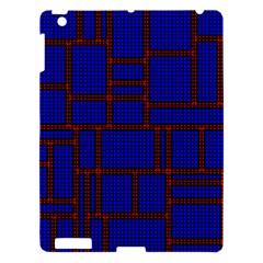 Line Plaid Red Blue Apple iPad 3/4 Hardshell Case