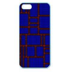 Line Plaid Red Blue Apple Seamless iPhone 5 Case (Color)