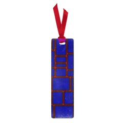 Line Plaid Red Blue Small Book Marks