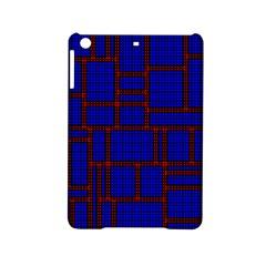 Line Plaid Red Blue Ipad Mini 2 Hardshell Cases
