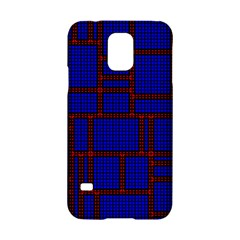 Line Plaid Red Blue Samsung Galaxy S5 Hardshell Case