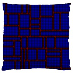 Line Plaid Red Blue Standard Flano Cushion Case (Two Sides)