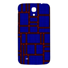 Line Plaid Red Blue Samsung Galaxy Mega I9200 Hardshell Back Case