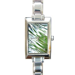 Fluorescent Flames Background Light Effect Abstract Rectangle Italian Charm Watch