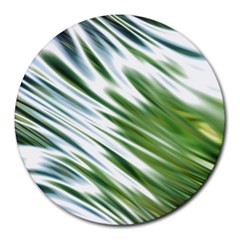 Fluorescent Flames Background Light Effect Abstract Round Mousepads
