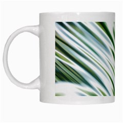 Fluorescent Flames Background Light Effect Abstract White Mugs