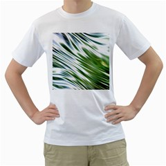 Fluorescent Flames Background Light Effect Abstract Men s T Shirt (white) (two Sided)