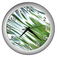 Fluorescent Flames Background Light Effect Abstract Wall Clocks (Silver)