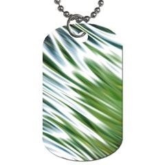 Fluorescent Flames Background Light Effect Abstract Dog Tag (one Side)