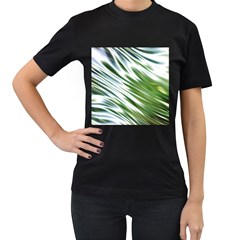Fluorescent Flames Background Light Effect Abstract Women s T Shirt (black) (two Sided)