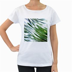 Fluorescent Flames Background Light Effect Abstract Women s Loose Fit T Shirt (white)