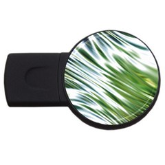 Fluorescent Flames Background Light Effect Abstract Usb Flash Drive Round (4 Gb)