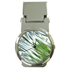 Fluorescent Flames Background Light Effect Abstract Money Clip Watches
