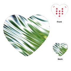 Fluorescent Flames Background Light Effect Abstract Playing Cards (Heart)