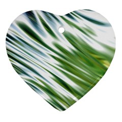 Fluorescent Flames Background Light Effect Abstract Heart Ornament (Two Sides)