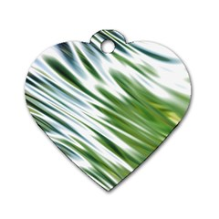 Fluorescent Flames Background Light Effect Abstract Dog Tag Heart (two Sides)