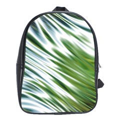 Fluorescent Flames Background Light Effect Abstract School Bags(Large)