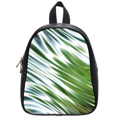 Fluorescent Flames Background Light Effect Abstract School Bags (Small)