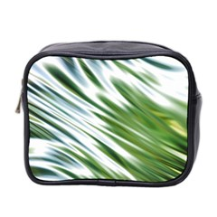 Fluorescent Flames Background Light Effect Abstract Mini Toiletries Bag 2 Side