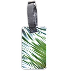 Fluorescent Flames Background Light Effect Abstract Luggage Tags (two Sides)