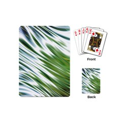 Fluorescent Flames Background Light Effect Abstract Playing Cards (mini)