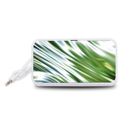 Fluorescent Flames Background Light Effect Abstract Portable Speaker (white)