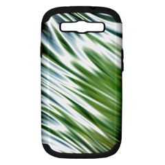 Fluorescent Flames Background Light Effect Abstract Samsung Galaxy S III Hardshell Case (PC+Silicone)