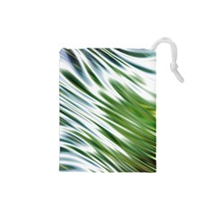 Fluorescent Flames Background Light Effect Abstract Drawstring Pouches (small)