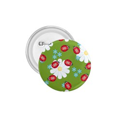 Insect Flower Floral Animals Star Green Red Sunflower 1.75  Buttons