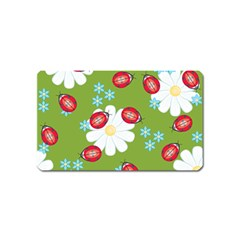 Insect Flower Floral Animals Star Green Red Sunflower Magnet (Name Card)