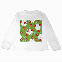 Insect Flower Floral Animals Star Green Red Sunflower Kids Long Sleeve T-Shirts